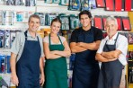Confident Salespeople In Hardware Shop